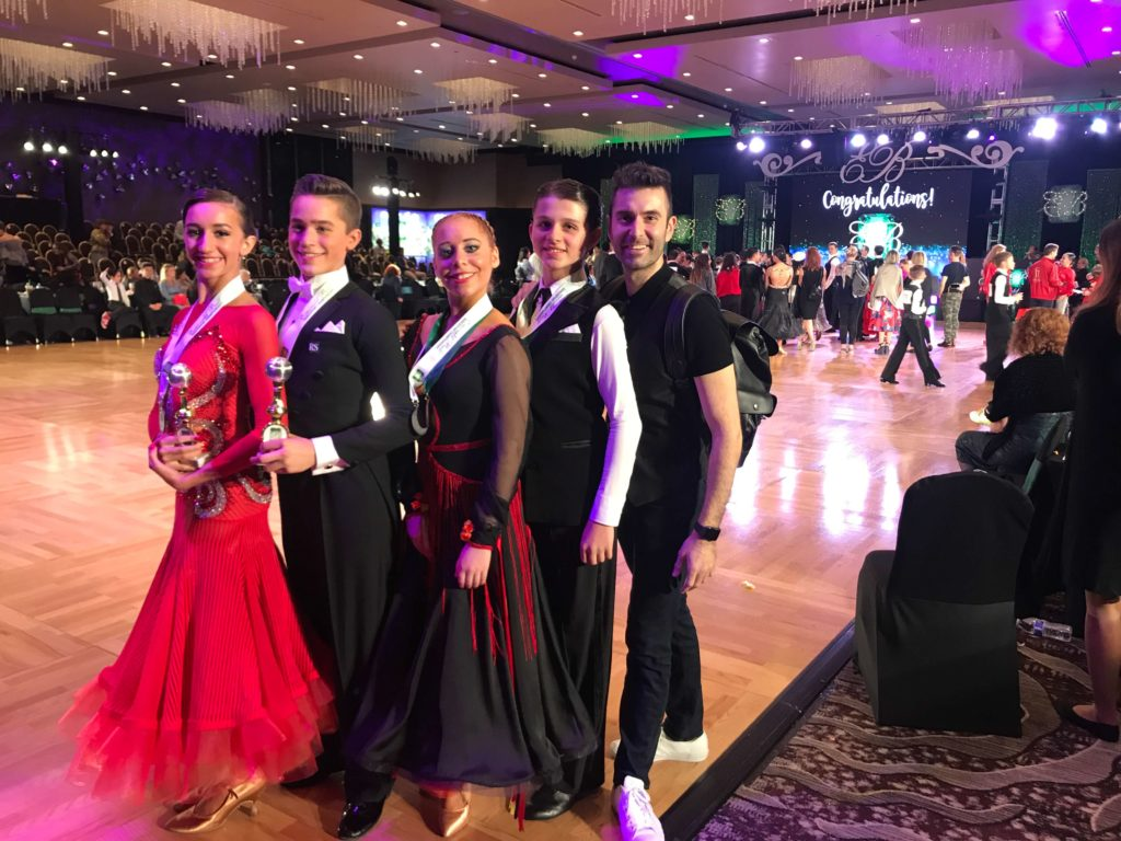 aria ballroom junior competitors at emerald ball