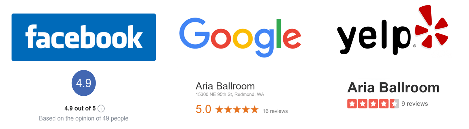Aria Ballroom Dance Reviews